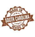 made in south carolina round seal vector image vector image