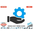 Mechanic Gear Service Hand Flat Icon With 2017 vector image vector image