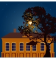 Moonlit night in the city vector image