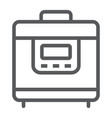 multicooker line icon kitchen and cooking vector image vector image
