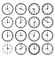 o clock icon set vector image vector image