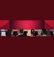 people sitting at theater or in cinema looking vector image