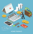 personal home finance flat isometric vector image vector image