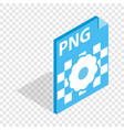 png image file extension isometric icon vector image vector image