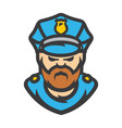 policeman cartoon vector image vector image