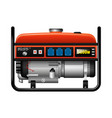 portable portable electric generator power outage vector image vector image