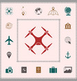 quadcopter drone icon elements for your design vector image