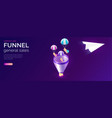 sale funnel and email message service isometric vector image