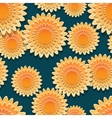 Seamless pattern with big orange flowers vector image vector image