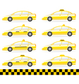 set of modern isolated taxi vector image