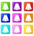 skirt set 9 vector image vector image