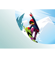 snowboarder rider freestyle vector image vector image