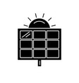 Solar panel silhouette icon in flat style