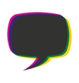 speech bubble color message icon vector image vector image