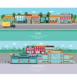 Store and supermarket banners set vector image vector image