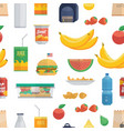tasty lunch food pattern vector image