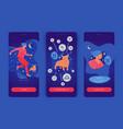 taurus man mobile app screens vector image vector image
