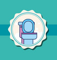 toilet ceramic cartoon banner bathroom vector image