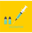 vaccination concept icons vector image