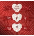Valentines Day paper Heart Labels Set vector image