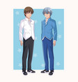 young mens anime cartoons vector image vector image