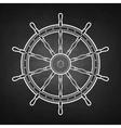 Graphic marine steering wheel vector image