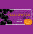 happy halloween banner template with balloons vector image