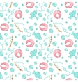 Seamless Pattern With Fishing Elements vector image