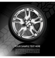 Shiny car wheel vector image