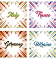 Abstract geometric backgrounds in national colors vector image