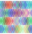Abstract seamless pattern with colored rhombus vector image vector image