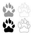 animal footprint icon grey and black color vector image vector image