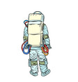 astronaut stands with his back vector image vector image