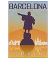 Barcelona vintage poster vector image vector image