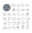 big data outline icon set pictogram set vector image vector image