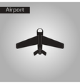 black and white style icon airplane vector image vector image