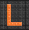 blocks in english capital letter l alphabet set vector image