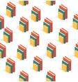 book stacks seamless pattern vector image vector image