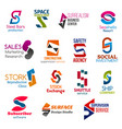 business icons letter s corporate identity vector image vector image