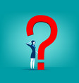 businesswoman with question mark vector image vector image