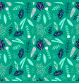cartoon floral green seamless pattern vector image