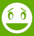 confused emoticon green vector image vector image