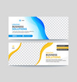 corporate business facebook cover banner design vector image