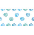 cute pastel blue birthday party paper pom vector image vector image