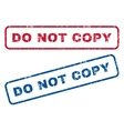 Do Not Copy Rubber Stamps vector image vector image