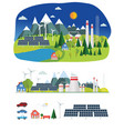 flat infographic eco plant vector image