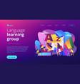 foreign language workshop concept landing page vector image