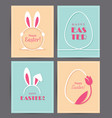 four easter greeting cards vector image vector image