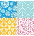 four vibrant abstract geometric patterns vector image vector image