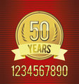 Golden emblem of anniversary vector | Price: 1 Credit (USD $1)